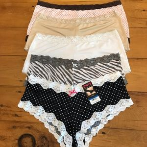 Maidenform panties bundle XL/8, nude & white  L/7
